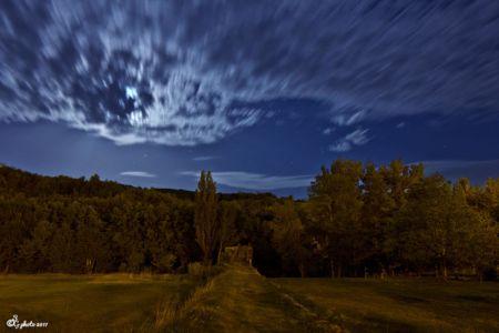 Stéphane Gervais, lune, nuages